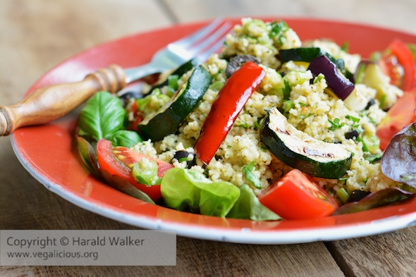 Couscous Salad with Grilled Summer Vegetables