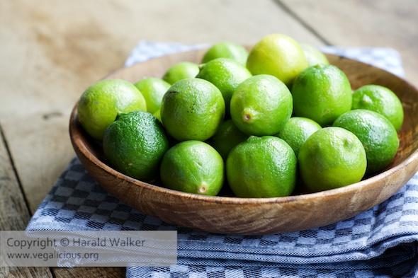Key limes (Citrus aurantiifolia)