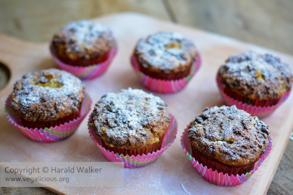 Banana Crumb Muffins w/ Fresh Pineapple & Coconut