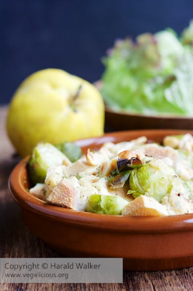 Brussels Sprouts and Quince Gratin
