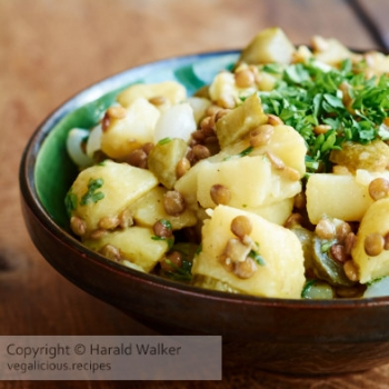German Lentil Potato Salad