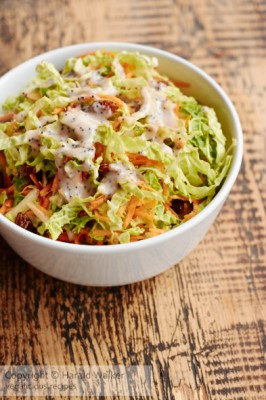 Savoy Cabbage Cole Slaw with Poppyseed Dressing
