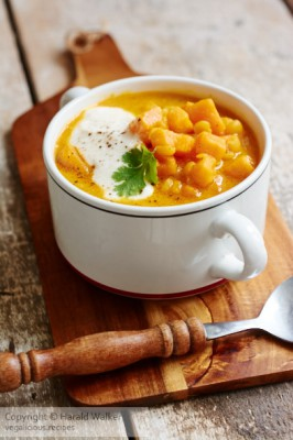 African Spiced Yellow Split Pea and Sweet Potato Soup
