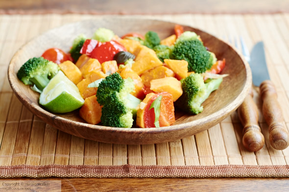 Stir-Fry Broccoli and Sweet Potato