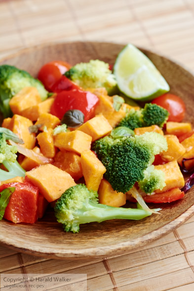 Stir-Fry Broccoli and Sweet Potato