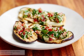 Grilled Eggplant with Tabbouleh