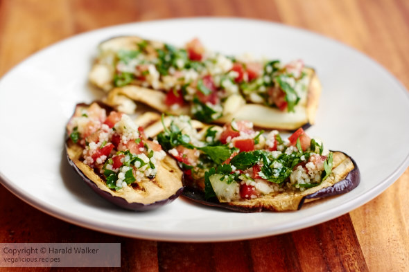 Grilled Eggplant with Tabbouleh Salsa