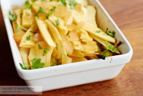 Ginger Roasted Parsnips