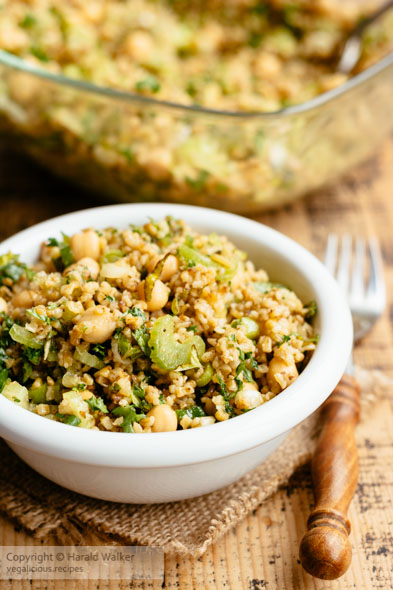 Freekeh, Chickpea and Herb Salad