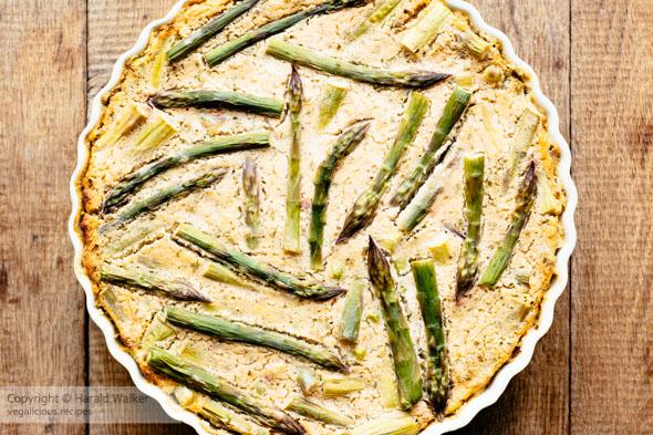 Spring Frittata with Peas, Asparagus and Herbs (vegan)