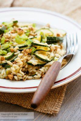 Zucchini, Walnut Risotto