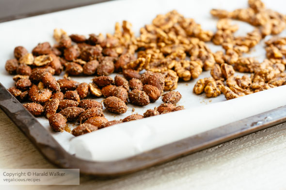 Spicy walnuts and almonds