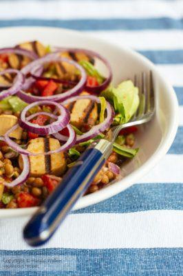 Lentil Wurst Salad