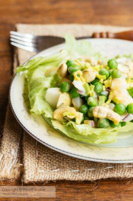 Crunchy Curried Pea Salad
