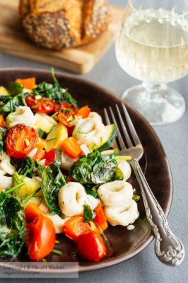 Creamy Vegan Tortellini with Fresh Vegetables