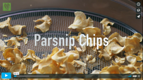 Making of parsnip chips