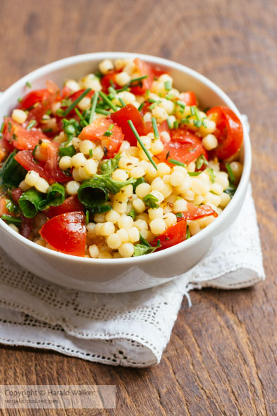 Tomato, Pearl Couscous and Herb Salad