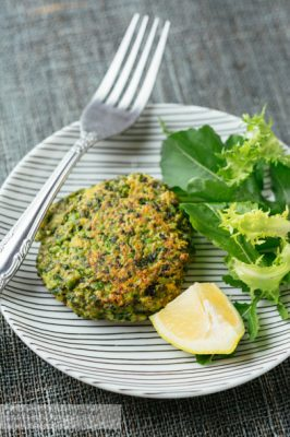 Vegan Pea and Kale Patties