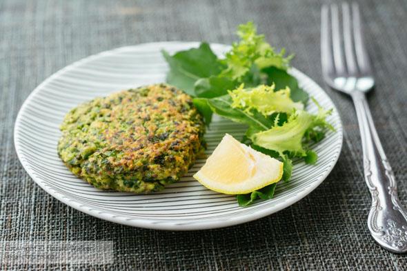 Vegan Pea and Kale Patties