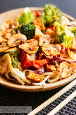 Asian Stir-Fry Veggies On Noodles