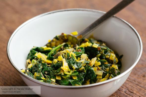 Spinach ravioli filling