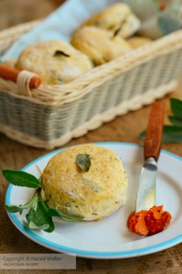 Vegan sage biscuits