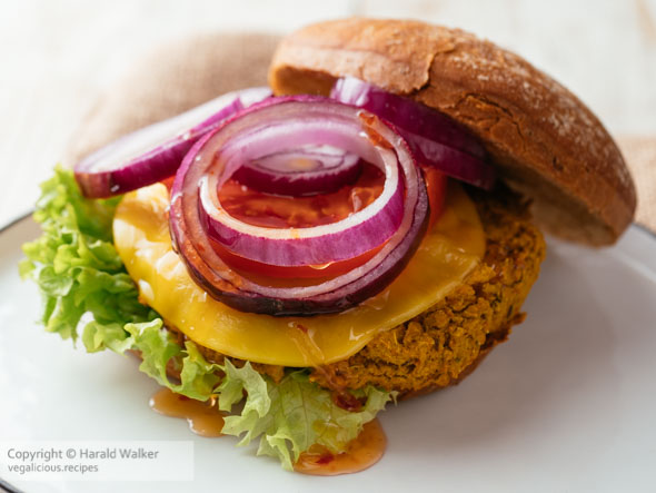 Curried Pumpkin and Chickpea Burger