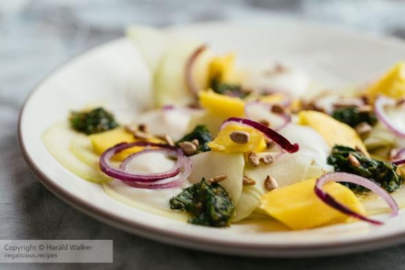 Marinated Kohlrabi and Mango Salad