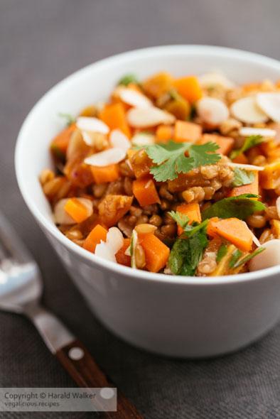 Cinnamon-Soaked Wheat Berry Salad
