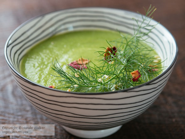 Garden Pea, Fennel and Apple Soup